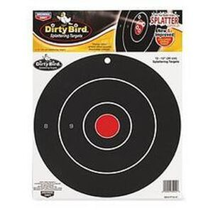 "Birchwood Casey 12"" Bullseye Dirty Bird Targets 12 Pack"