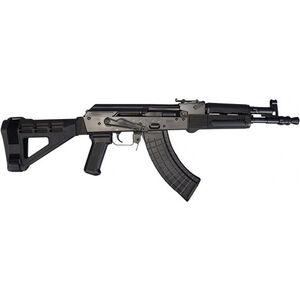 "Pioneer Arms Polish Hellpup 7.62x39mm AK-47 Semi Auto Pistol 11.73"" Barrel 30 Rounds Fixed SBM47 Pistol Brace Polymer Furniture Black Finish"
