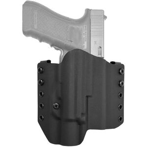 """Comp-Tac Warrior Holster fits GLOCK 17 Gen5 with TLR-1/HL Light OWB Belt Slide Right Hand 1.5"""" Belt Loops Kydex Black"""
