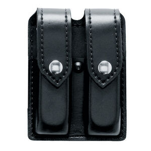 Safariland Model 77 Double Magazine Pouch Fits Beretta 92FS/M9 Hidden Snaps Hardshell STX Tactical Black