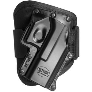 Fobus Ankle Holster GLOCK 36 Right Hand Draw Polymer Shell/Cordura Pad with Velcro Strap Matte Black Finish