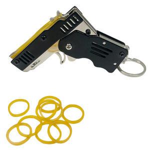 RW Mini's Pocket Size Rubber Band Toy Gun Two Tone Finish