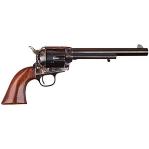 "Cimarron P-Model 1873 Revolver 44-40 Win 7.5"" Barrel 6 Rounds Walnut Grips Color Case Hardened Frame Blued"