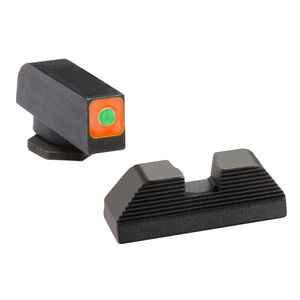 AmeriGlo Spaulding Tritium Sight Set For GLOCK Green/Orange