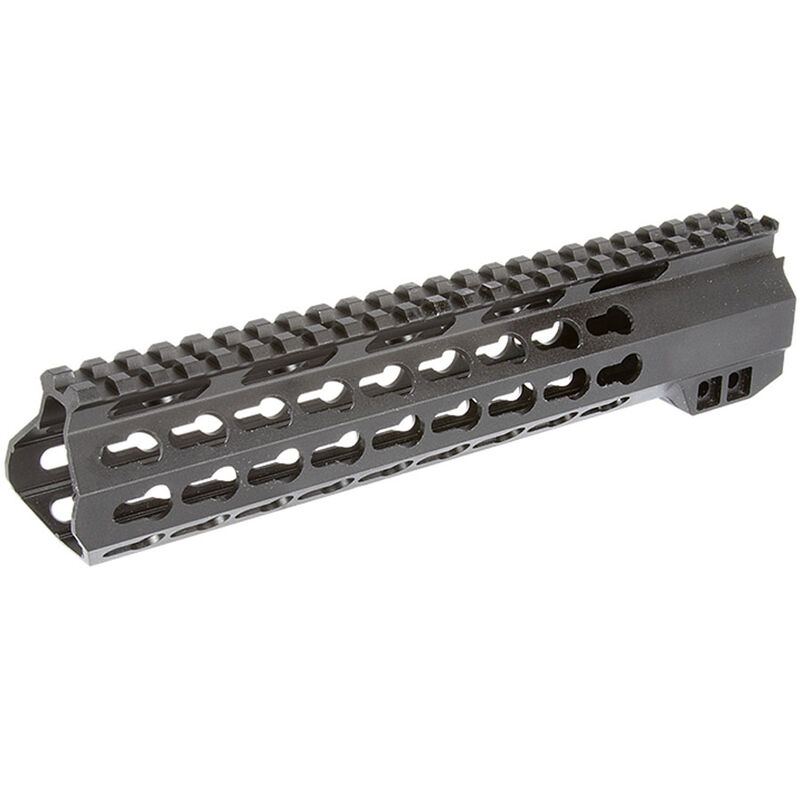 "Aim Sports AR-15 10"" One Piece Free Float KeyMod Compatible Hand Guard 6061-T6 Aluminum Matte Black Finish"