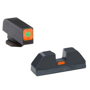 Ameriglo Cap Sight Set for GLOCK 43 Orange Outline Tritium Illuminated Front Sight