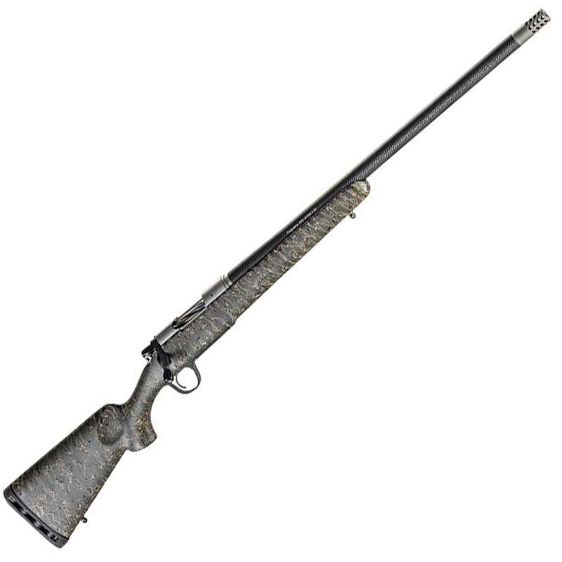 "Christensen Arms Ridgeline .450 Bushmaster Bolt Action Rifle 20"" Threaded Barrel 3 Rounds Carbon Fiber Composite Sporter Green/Black/Tan Stock Carbon Fiber/SS"