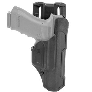 BLACKHAWK! T-Series Level 2 Duty Holster For GLOCK 17/19/22/23/34/35 Right Hand Polymer Black