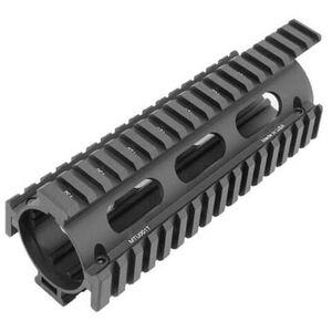 Leapers UTG PRO AR-15 Carbine Length Drop In Quad Rail Aluminum Black MTU001T
