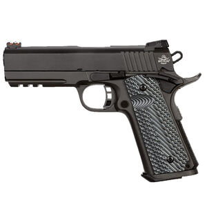 "Rock Island Armory Tac Series Ultra Mid-Size 1911 Semi Auto Pistol 10mm Auto 4.25"" Barrel 8 Rounds Fiber Front/Adjustable Rear Sights G10 Grips Parkerized Matte Black"
