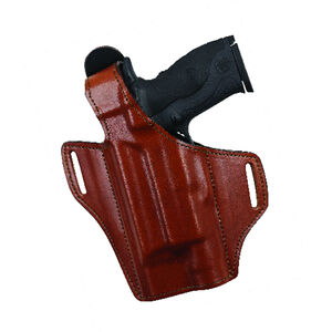 Bianchi Model 140 The Reveal Belt Holster Left Hand Fits S&W M&P 9/40 with Light Leather Plain Tan