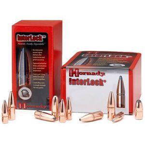 "Hornady .270 Caliber .277"" Diameter 130 Grain InterLock Soft Point Cannelured Bullet 100 Count 2730"