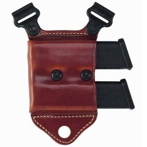 Galco HCL 1911 Single Stack Horizontal Dual Magazine Carrier for Shoulder System Leather Tan HCL26