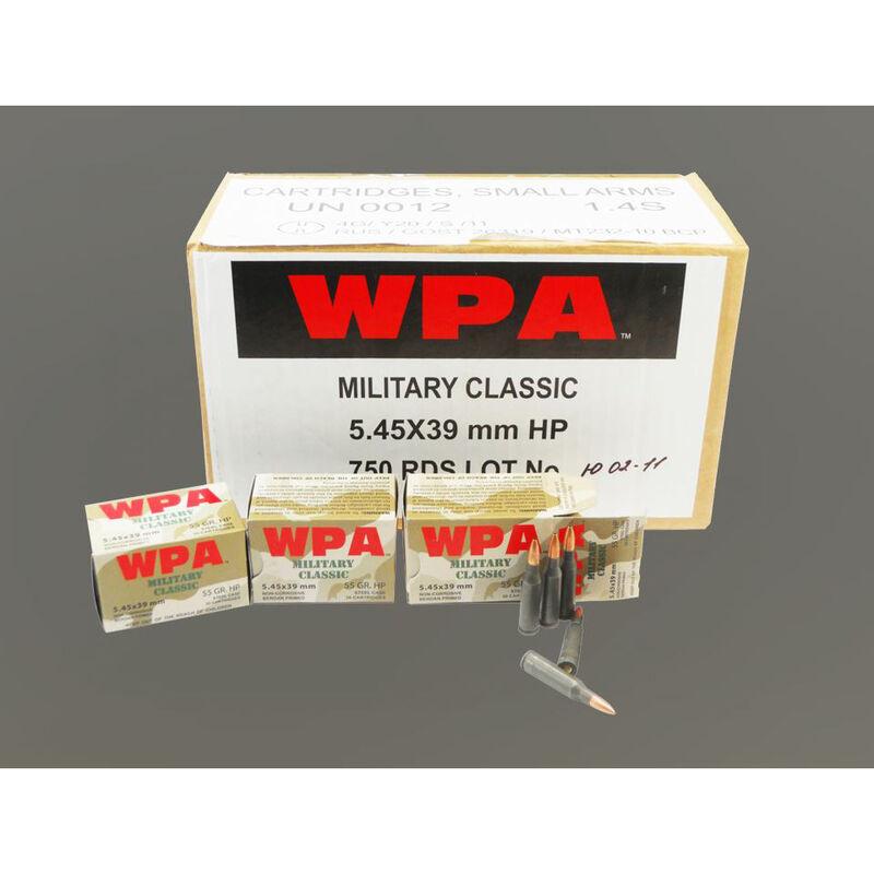 Wolf Military Classic 5.45x39mm Ammunition 750 Rounds JSP 55 Grain