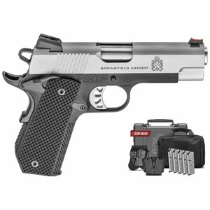 "Springfield Armory 1911 EMP Concealed Carry Contour with FREE  Gear UP Package 9mm Luger Semi Auto Pistol 4"" Barrel 9 Rounds Two Tone PI9229LIGU"