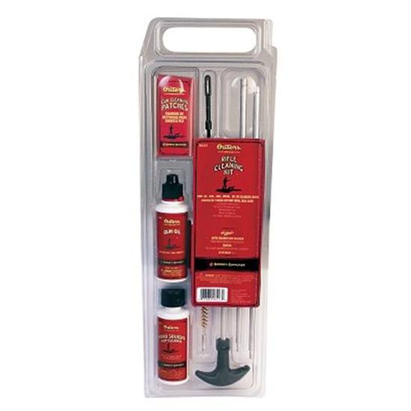 Outers Rifle Cleaning Kit .22 Caliber Aluminum Rod Clam Pack 96217