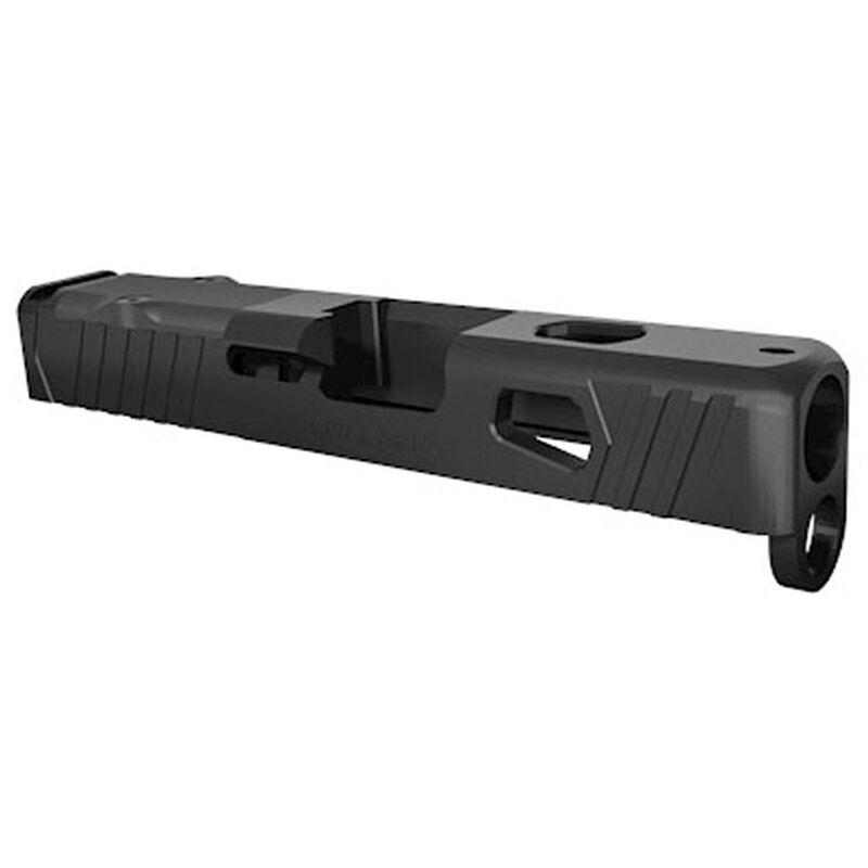 Rival Arms Slide for GLOCK 26 Gen 3/Gen 4 Models RMR Ready Optic Cut CNC Machined 17-4PH Stainless Steel Billet Matte Black Finish