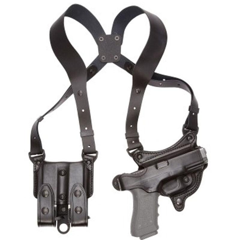 Aker Leather 107 FlatSider XR7 SIG Sauer P239 Shoulder Holster Right Hand Leather Plain Black