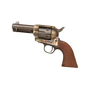 "Cimarron New Sheriff Revolver .357 Magnum 3.5"" Barrel 6 Rounds Wood Grips Case Hardened Finish"