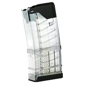 Lancer AR-15 L5 Advanced Warfighter Magazine .223 Rem/5.56 NATO 20 Rounds Polymer Translucent Clear 999-000-2320-32