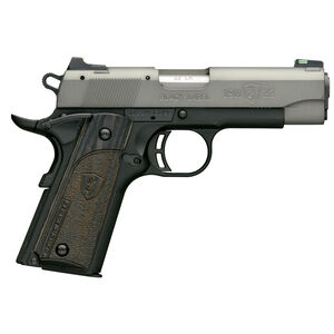 "Browning 1911-22 Black Label Gray Compact Semi Auto Pistol 22 LR 3.625"" Barrel 10 Rounds Black/Gray"