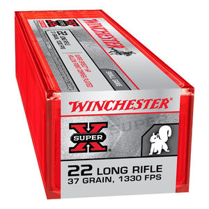 Winchester Super-X Super Speed .22LR Ammunition 37 Grain Copper Plated HP 1330 fps