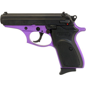 "Bersa Thunder .380 ACP Semi Auto Pistol 3.5"" Barrel 8 Rounds Black Polymer Grips Two Tone Purple/Black Finish"