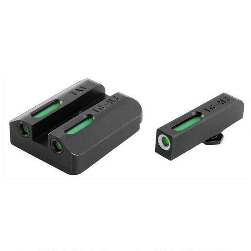 TRUGLO Tritium Pro Sight Set Taurus Millennium G2/709 Slim/740 Slim Green 3-Dot Steel Black TG231T2W