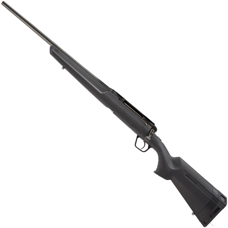 """Savage Axis Compact LH Bolt Action Rifle .243 Win 20"""" Barrel 4 Rounds Detachable Box Magazine Synthetic Stock Matte Black Finish"""