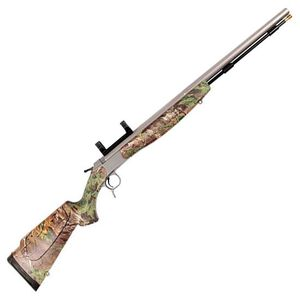 "CVA Optima V2 Muzzleloader Rifle .50 Caliber 26"" Barrel with Fiber Optic Sight Composite Stock Realtree Xtra Green PR2022S"