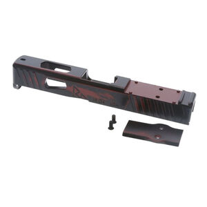 Rival Arms Faction Series Slide for GLOCK 19 Gen 4 Frames Docter Optic Cut CNC Machined 17-4PH Stainless Steel Billet Ready Red Finish