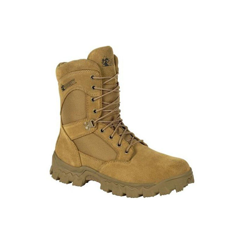 """Rocky International Alpha Force 8"""" Duty Boot Size 12 Coyote Brown"""