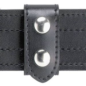 "Safariland 655 Heavy Duty Belt Keeper, 1.25"" Wide, 2.25"" Belt, Two Chrome Snaps, Hi Gloss Leather Black"