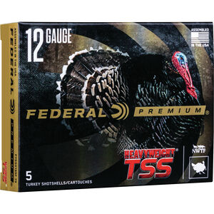 "Federal HEAVYWEIGHT TSS 12 Gauge Ammunition 5 Rounds 3-1/2"" Shell #7/#9 Combo Tungsten Shot 2-1/2 Ounce 1200fps"