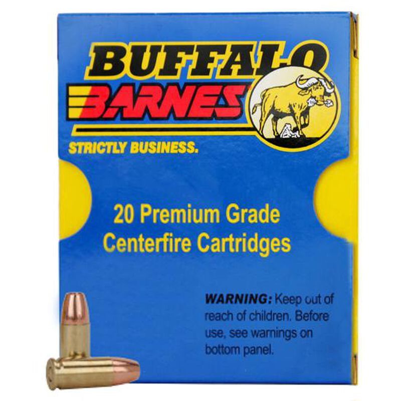 Buffalo Bore 9mm Luger +P+ Ammunition 20 Rounds Barnes TAC-XP 95 Grains 24G/20