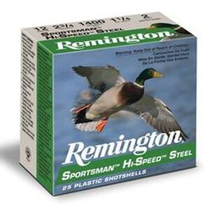 "Remington 12 Ga 2.75"" #2 Steel 1.125 oz 25 Rounds"
