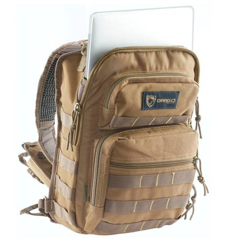 """DRAGO Gear Sentry Pack for iPad or Tablet 13""""x10""""x7"""" 600D Polyester Tan 14306TN"""