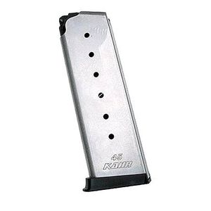 Kahr Arms All 45 Models Magazine .45 ACP 7 Rounds Polymer Extended Baseplate Stainless Steel K725