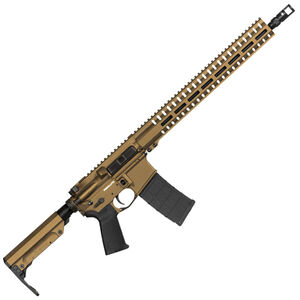 "CMMG Resolute 300 Mk4 9mm Luger AR-15 Semi Auto Rifle 16"" Barrel 30 Rounds Uses ARC Magazines RML15 M-LOK Handguard RipStock Collapsible Stock Burnt Bronze Finish"