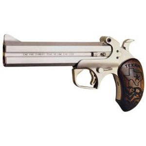 "Bond Arms Texan .45 LC/.410 Bore Derringer 6"" Barrels 2 Rounds Rosewood Grip Stainless Steel Finish"