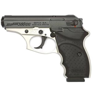"Bersa Thunder CC Semi Automatic Pistol .380 ACP 3.2"" Barrel 8 Rounds Polymer Grip Matte Duo Tone Finish T380DTCC"