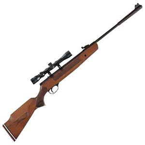 "Hatsan 1000X .177 Caliber Break Barrel Air Rifle 16.5"" Barrel 1000 fps 1 Shot 3-9x32 Scope Wood Stock Blued Finish"