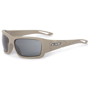 Eye Safety Systems Credence Ballistic Sunglasses Terrain Tan Frame Smoke Gray Lens Black EE9015-14