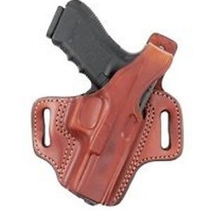Aker Leather 167 Nightguard GLOCK 20/21 with M3/TLR-1/TLR-2 Belt Holster Right Hand Leather Plain Tan