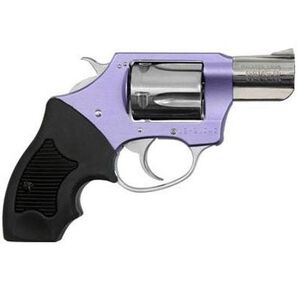 """Charter Arms Chic Lady Revolver 38 Special 2"""" Barrel 5 Rounds Aluminum Lavender Frame Rubber Grip Fixed Sights Aluminum Case Pink 53849"""