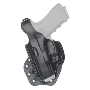Aker Leather 268 FlatSider Paddle XR17 GLOCK 17/22 Belt Holster Left Hand Leather Plain Black H268BPLU-GL1722