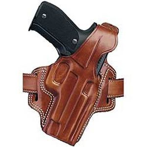 "Galco F.L.E.T.C.H. Ruger Security Six/Speed Six 2.75"", S&W K-Frame 2.5"" High Ride Belt Holster Right Hand Leather Tan FL112"