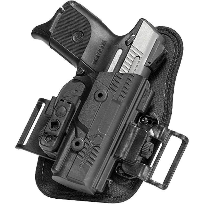 Alien Gear ShapeShift OWB Slide Holster S&W M&P Shield 9mm OWB Belt Slide Holster Right Handed Synthetic Backer with Polymer Shell Black