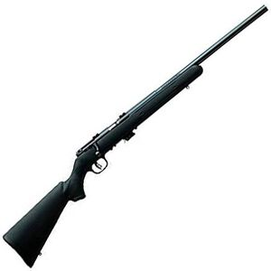 "Savage Mark II F Bolt Action Rimfire Rifle .17 HM2 21"" Barrel 10 Rounds Scope Mounts Blued Barrel Synthetic Stock Black 26702"