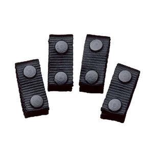 "DeSantis Nylon Belt Keepers Fits 2"" Belts Nylon Black 4 Pack"
